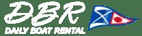 Daily Boat Rental logo in white