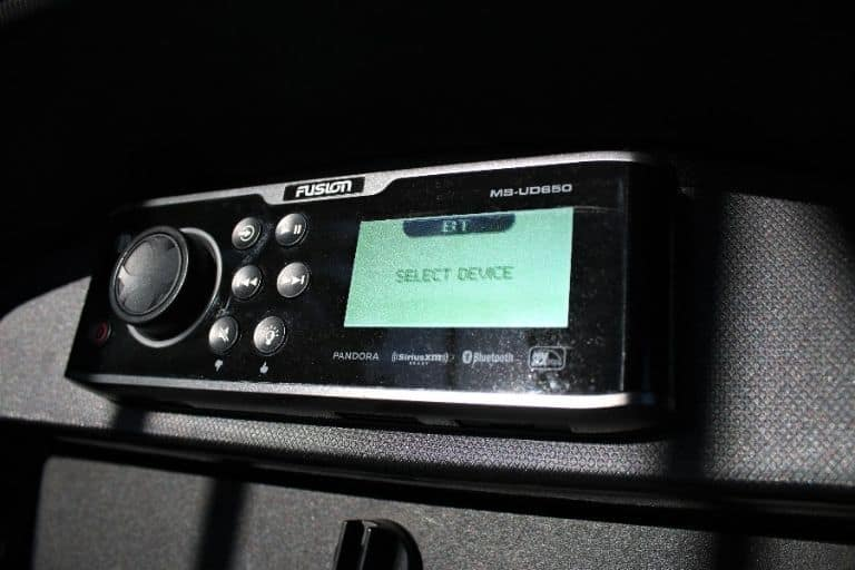 Closeup image of Monterey 217 Bowrider stereo system