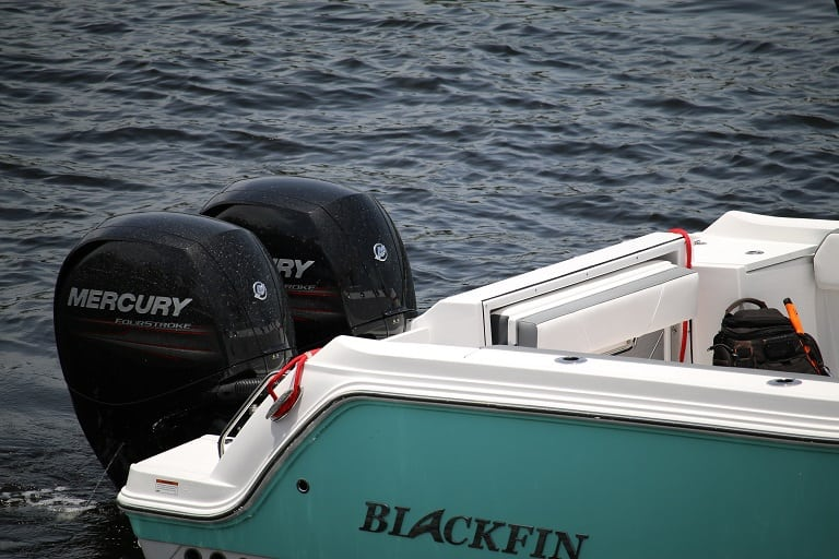 265 Blackfin center console dual engines